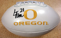 LaMichael James Autographed Logo Football Oregon Ducks PSA/DNA RookieGraph Stock