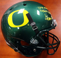 "LaMichael James Autographed Oregon Ducks Full Size Green Helmet ""2010 NCAA Rushing Leader"" PSA/DNA Stock"