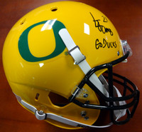 "LaMichael James Autographed Oregon Ducks Full Size Oregon Yellow Helmet ""Go Ducks"" PSA/DNA"
