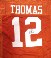 Earl Thomas Autographed Texas Longhorns Orange Jersey MCS Holo Stock