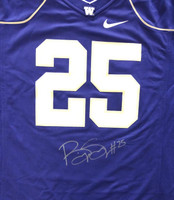 Bishop Sankey Autographed Washington Huskies Purple Nike Jersey Size L MCS Holo Stock