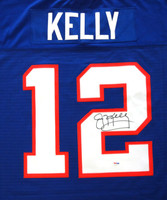 Jim Kelly Autographed Buffalo Bills Blue Mitchell & Ness Jersey PSA/DNA Stock