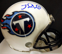 Jake Locker Autographed Tennessee Titans Mini Helmet PSA/DNA Stock