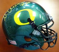 Max Unger Autographed Oregon Ducks Green Mini Helmet MCS Holo Stock