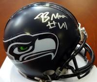 Byron Maxwell Autographed Seattle Seahawks Mini Helmet MCS Holo Stock
