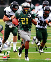 LaMichael James Autographed 8x10 Photo Oregon Ducks MCS Holo Stock #76074