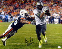 LaMichael James Autographed 16x20 Photo Oregon Ducks PSA/DNA RookieGraph
