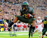 LaMichael James Autographed 16x20 Photo Oregon Ducks PSA/DNA.