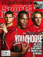 Jake Locker Autographed Sports Illustrated Magazine Washington Huskies PSA/DNA RookieGraph Stock
