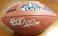 Richard Sherman Autographed Super Bowl Leather Football Seattle Seahawks.