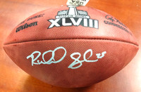 Richard Sherman Autographed Super Bowl Leather Football Seattle Seahawks