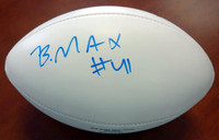 Byron Maxwell Autographed White Logo Football Seattle Seahawks