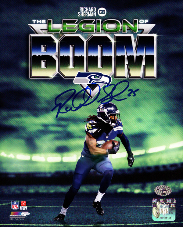Richard Sherman Autographed 8x10 Photo Seattle Seahawks