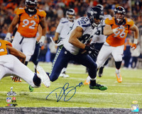 This is a 16x20 photo that has been hand signed by Doug Baldwin.