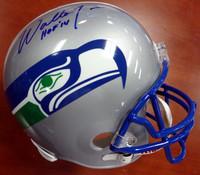 "Walter Jones Autographed Seattle Seahawks Full Size Throwback Helmet ""HOF '14"" (Pre 2001)"