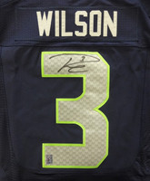 Russell Wilson Autographed Seattle Seahawks SB XLIX Blue Nike Elite Jersey Size