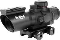 AIM Sports 4x32 Triple Illumination Tactical Scope w/ Weaver Rail