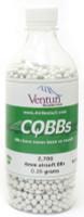 Air Venturi CQBBs 6mm biodegradable airsoft BBs, 0.25g, 2700 rds, white