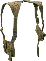 Leapers Deluxe Universal Horizontal Shoulder Holster (Woodland Digital Camo)