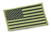 American Flag Velcro Patch, OD Green