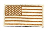 American Flag Velcro Patch, Tan