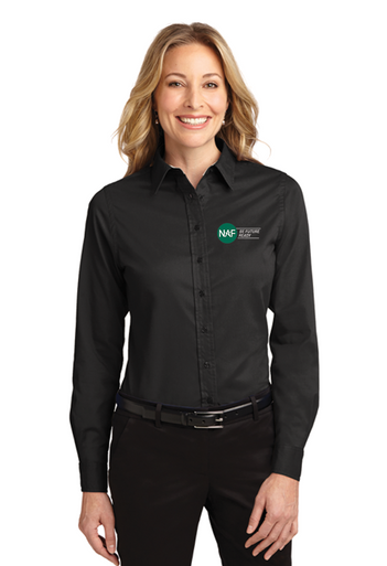 Embroidered Ladies Long Sleeve Easy Care Shirt