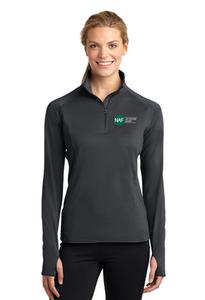 Ladies Embroidered Textured Sport-Wick 1/2-Zip Pullover