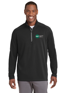 Mens Textured 1/2 Zip Pullover (Black)