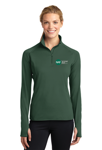 Ladies Embroidered Sport-Wick Stretch 1/2-Zip Pullover