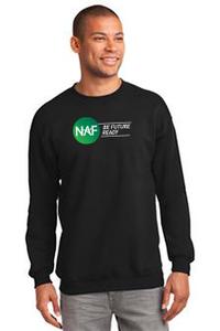 Essential Fleece Crewneck Sweatshirt (Black)