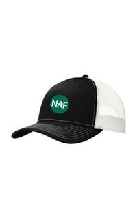 Snapback Trucker Cap (Black/White)