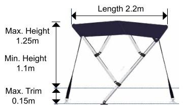 Folding Bimini Cover