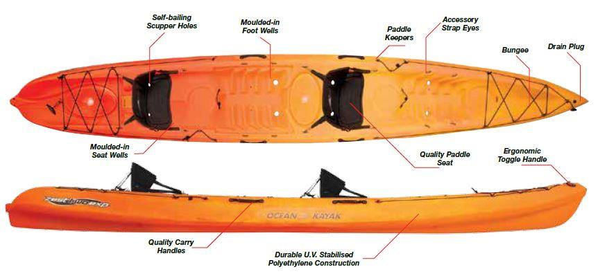 Ocean Kayak Sit-On-Top Kayak - Zest Two Exp