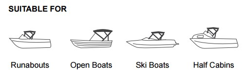 Bimini Cover for Ski Boats