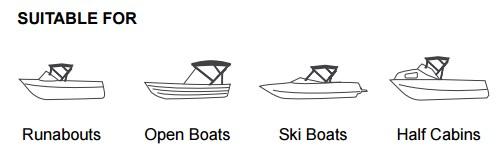 Bimini Cover for Ski Boats