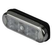 Rail mount light with switch stainless steel cover 12v led