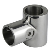 Stainless steel 90deg opening tee clamp