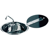 Can r stainless steel sinks with glass lid and folding tap 50727