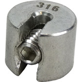Stainless steel adjustable stop 316 grade