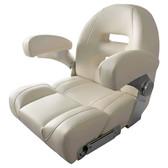 Ivory White Padded Boat Seat