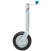 Zinc plated standard jockey wheel solid rubber wheel with steel rim 54409