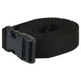 Side release plastic buckle tie down