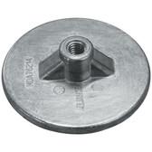 Zinc anode round plate 90mm