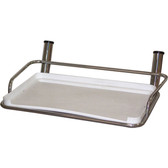 Stainless steel bait board with 2 rod holders 49904