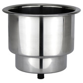 Stainless steel recess drink holder