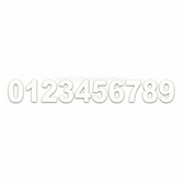 Self Adhesive Numbers - White, 165mm (Pair)