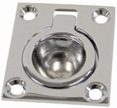 Flush Pull Ring - Rectangular Chrome