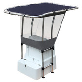 T-Top Canopy with Spray Shield - Blue