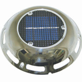 Solar Vent With Battery - Stainless Steel