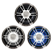 Fusion Signature Series Speakers - Chrome/Grey Sports Grill With LEDs
